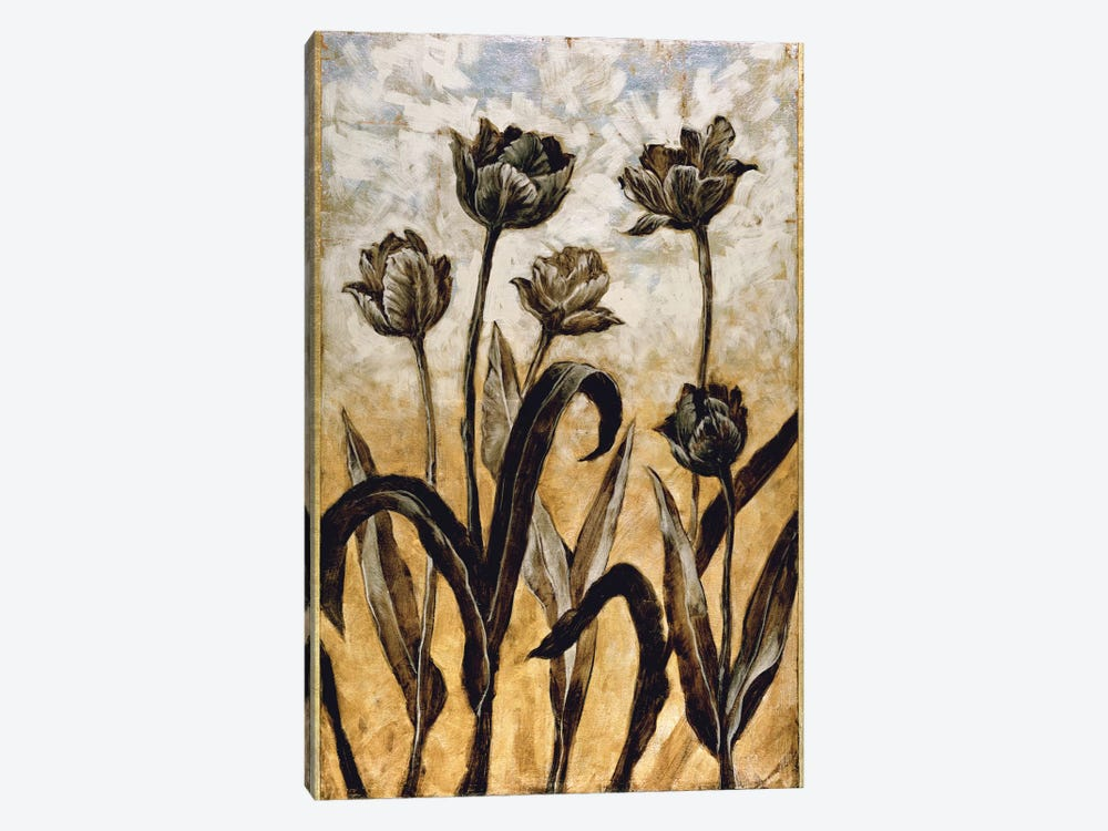 Tulip Silhouette by Erin Lange 1-piece Canvas Print
