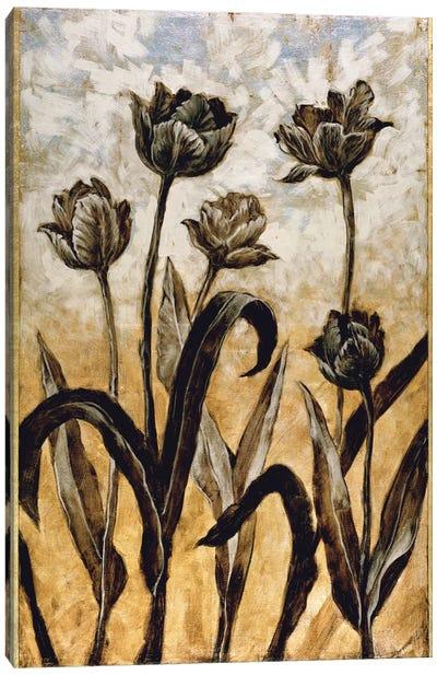 Tulip Silhouette Canvas Art Print