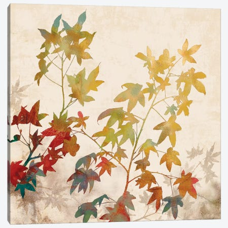 Turning Leaves II Canvas Print #ELA76} by Erin Lange Canvas Artwork