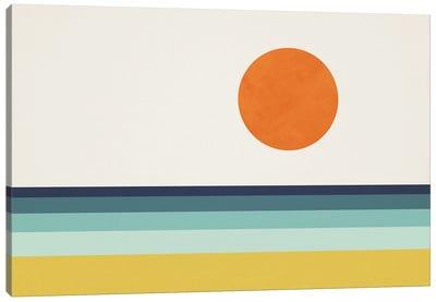 Abstract Landscape Sun Sea Beach I Canvas Art Print