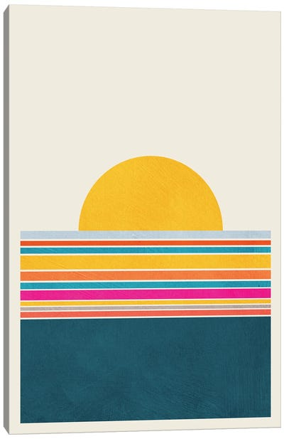 Abstract Colorful Landscape I Canvas Art Print