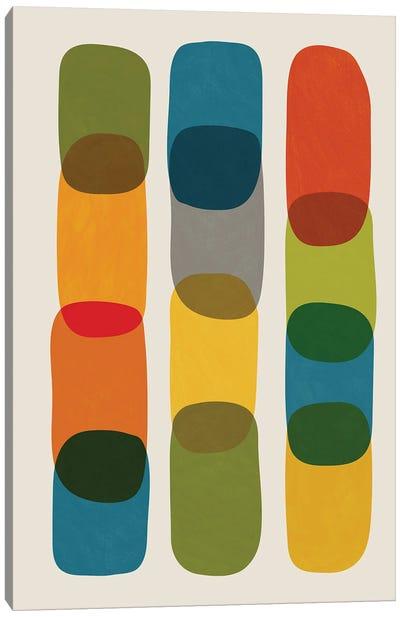 Colorful Mid-Century Modern Bold I Canvas Art Print