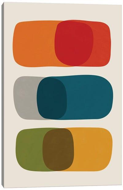 Colorful Mid-Century Modern Bold II Canvas Art Print