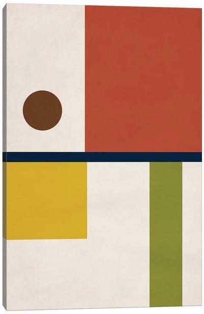 Abstract Geo Bauhaus II Canvas Art Print
