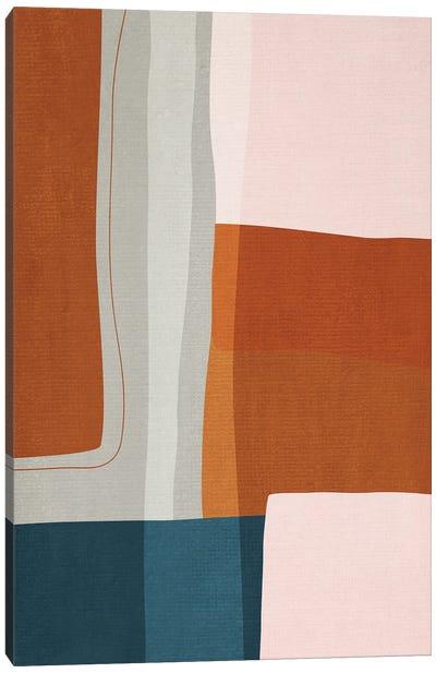 Abstract Burnt Orange Navy I Canvas Art Print