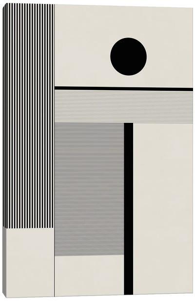 Black & White Bauhaus II Canvas Art Print