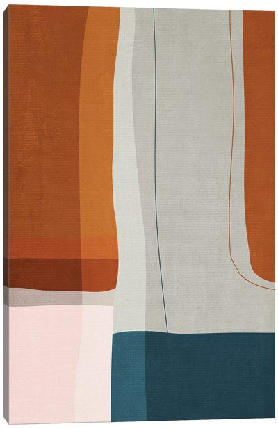 Abstract Burnt Orange Navy II Canvas Art Print
