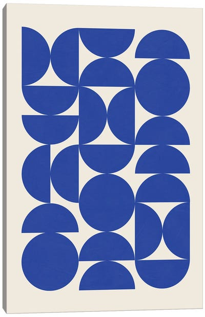 Blue Matisse Semicircles Canvas Art Print