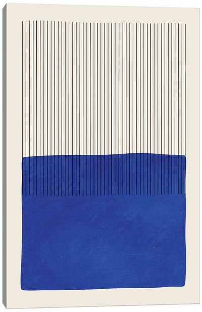 Blue Matisse Vertical Lines Canvas Art Print
