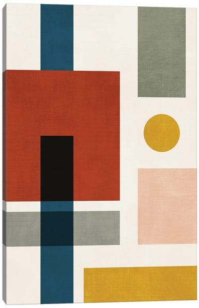 Bauhaus Abstract Geo II Canvas Art Print