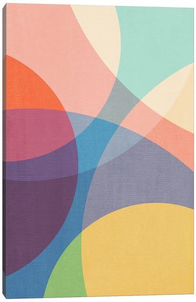 Abstract Colorful Circles II Canvas Art Print