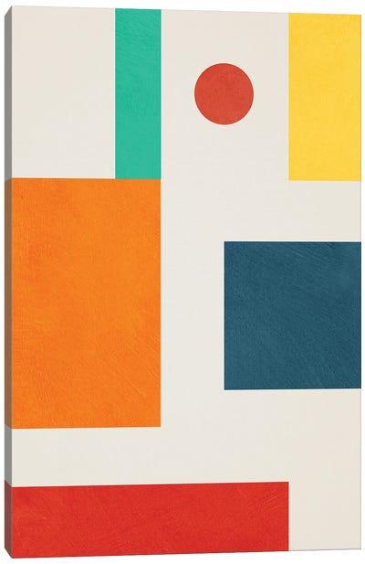 Geometric Colorful II Canvas Art Print