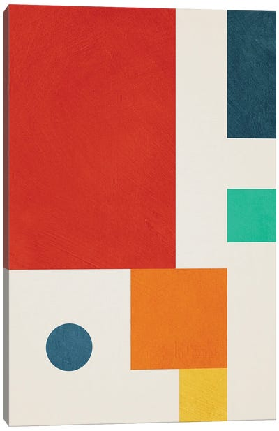 Geometric Colorful III Canvas Art Print