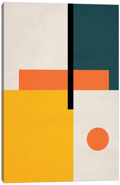 Abstract Geo Bauhaus III Canvas Art Print