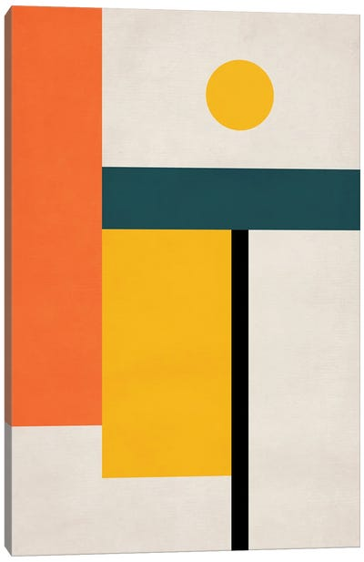 Abstract Geo Bauhaus IV Canvas Art Print