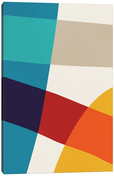 Abstract Red Yellow Blue Beige IV Canvas Art Print