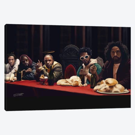 Last Supper Canvas Print #ELC17} by El'Cesart Canvas Artwork