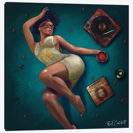 Lauryn Hill & Chill Canvas Print #ELC19} by El'Cesart Canvas Print
