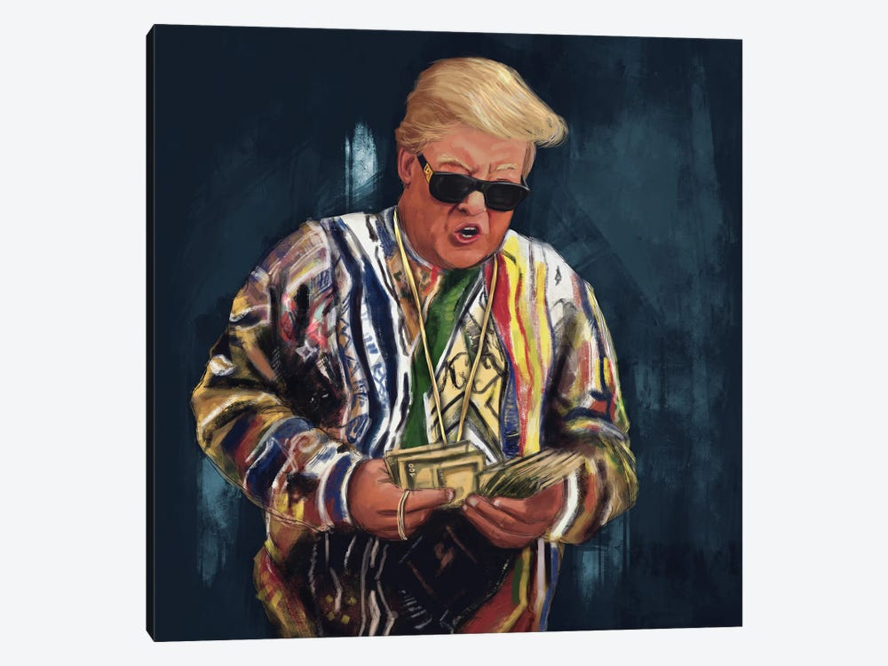 Biggie Trump by El'Cesart 1-piece Canvas Artwork