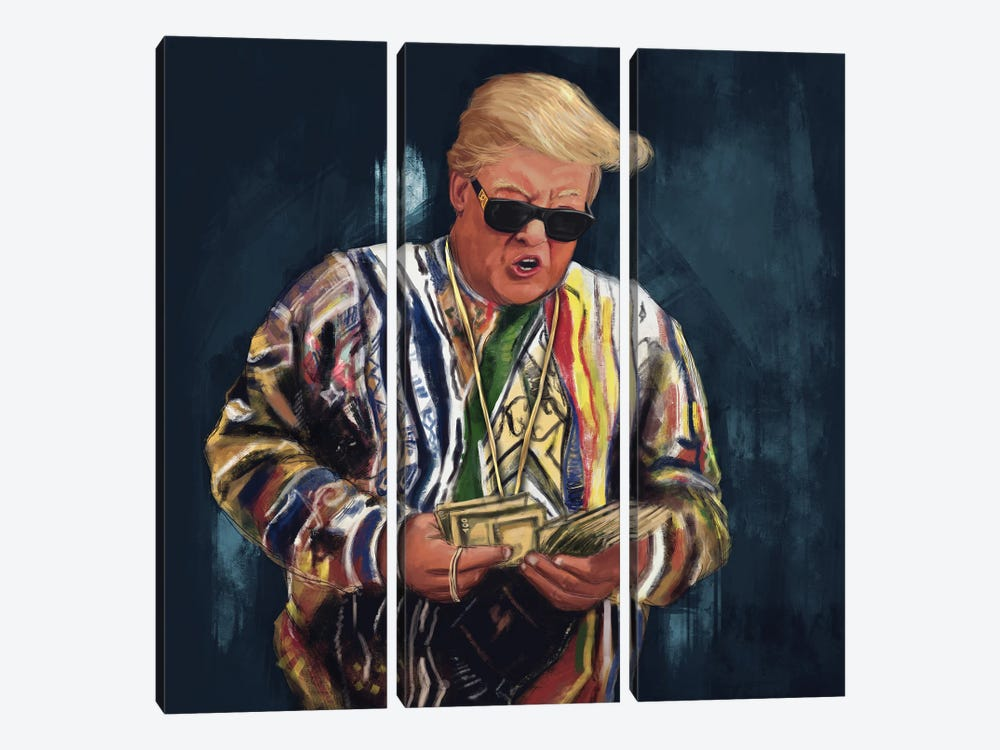 Biggie Trump by El'Cesart 3-piece Canvas Artwork
