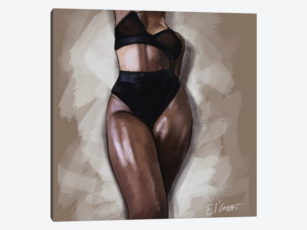 Black Woman by El'Cesart 1-piece Art Print