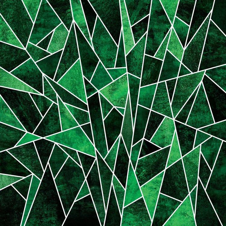 Shattered Emerald Canvas Art By Elisabeth Fredriksson Icanvas
