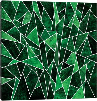 Shattered Emerald Canvas Art Print