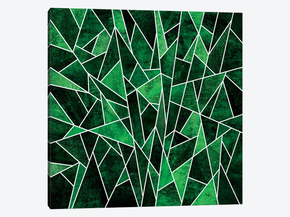 Shattered Emerald by Elisabeth Fredriksson 1-piece Canvas Wall Art