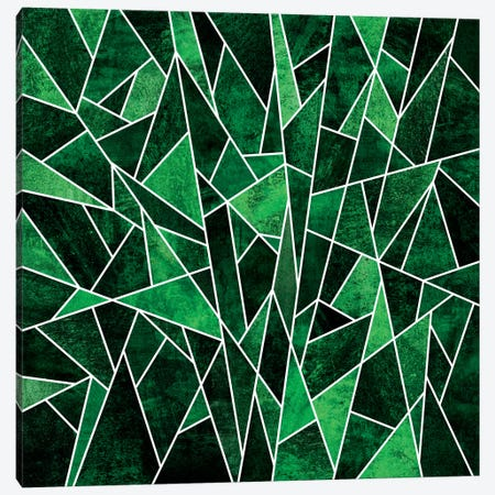 Shattered Emerald 3-Piece Canvas #ELF100} by Elisabeth Fredriksson Canvas Art