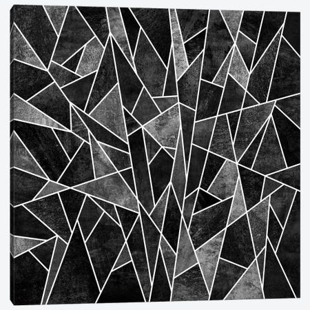 Shattered Sammansatt (Black) Canvas Print #ELF101} by Elisabeth Fredriksson Canvas Artwork