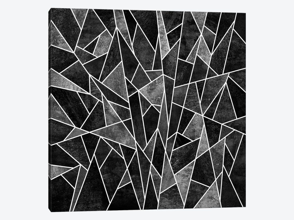 Shattered Sammansatt (Black) by Elisabeth Fredriksson 1-piece Canvas Art Print
