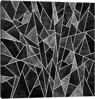 Shattered Sammansatt (Black) Canvas Art Print
