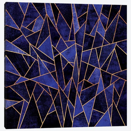 Shattered Sapphire 3-Piece Canvas #ELF102} by Elisabeth Fredriksson Canvas Art