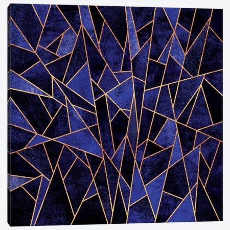 Shattered Sapphire Canvas Print #ELF102} by Elisabeth Fredriksson Canvas Art