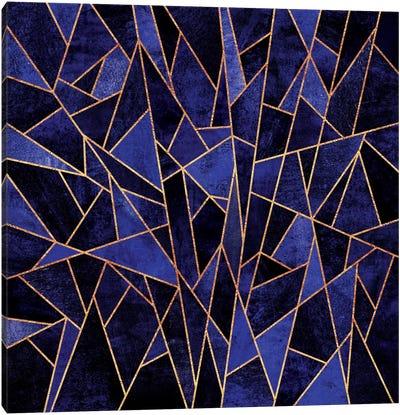 Shattered Sapphire Canvas Art Print