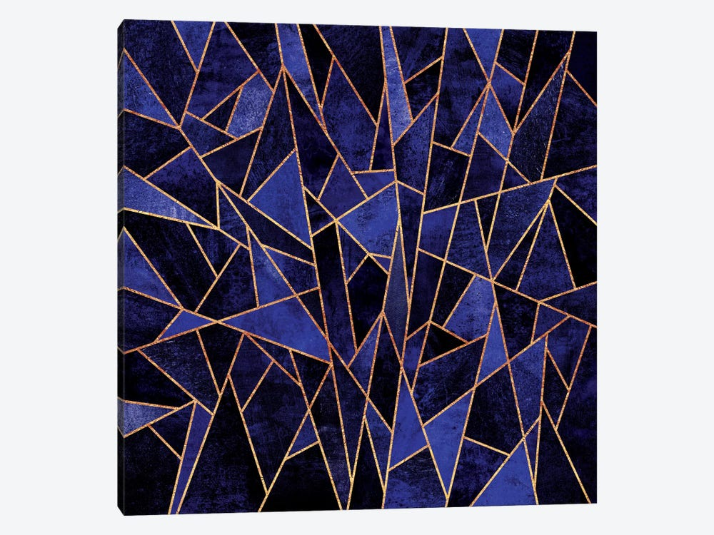 Shattered Sapphire by Elisabeth Fredriksson 1-piece Canvas Wall Art