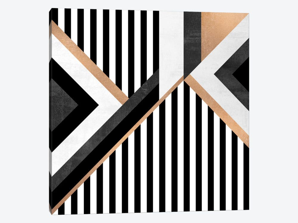 Stripe Combination by Elisabeth Fredriksson 1-piece Canvas Art Print