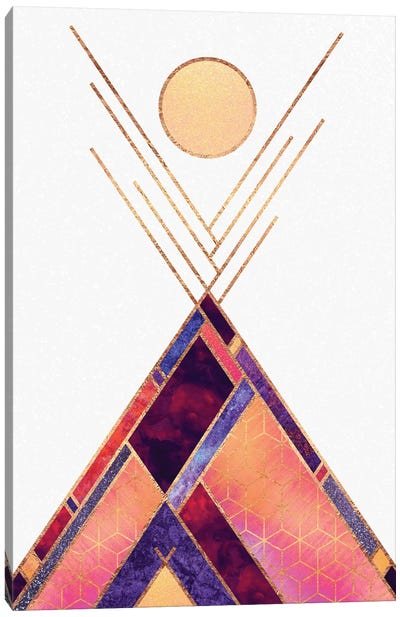 Tipi Mountain Canvas Art Print