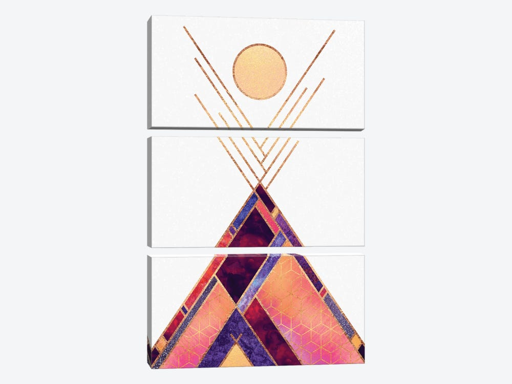 Tipi Mountain by Elisabeth Fredriksson 3-piece Canvas Art Print