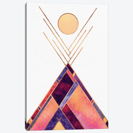 Tipi Mountain 3-Piece Canvas #ELF110} by Elisabeth Fredriksson Canvas Art Print