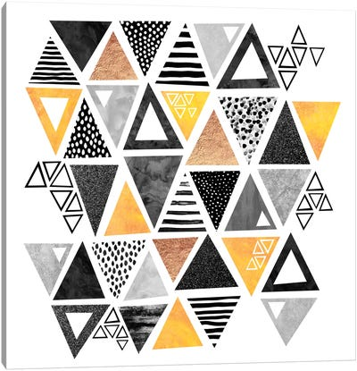 Triangle Abstract Canvas Print #ELF111