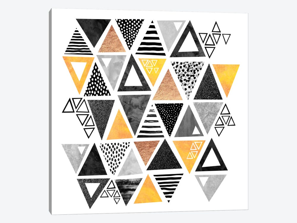 Triangle Abstract by Elisabeth Fredriksson 1-piece Canvas Art