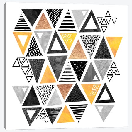 Triangle Abstract Canvas Print #ELF111} by Elisabeth Fredriksson Canvas Print