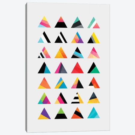 Triangle Variation Canvas Print #ELF112} by Elisabeth Fredriksson Canvas Art Print