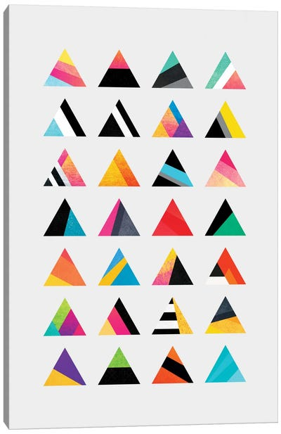 Triangle Variation Canvas Print #ELF112