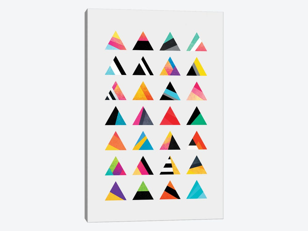 Triangle Variation by Elisabeth Fredriksson 1-piece Canvas Print
