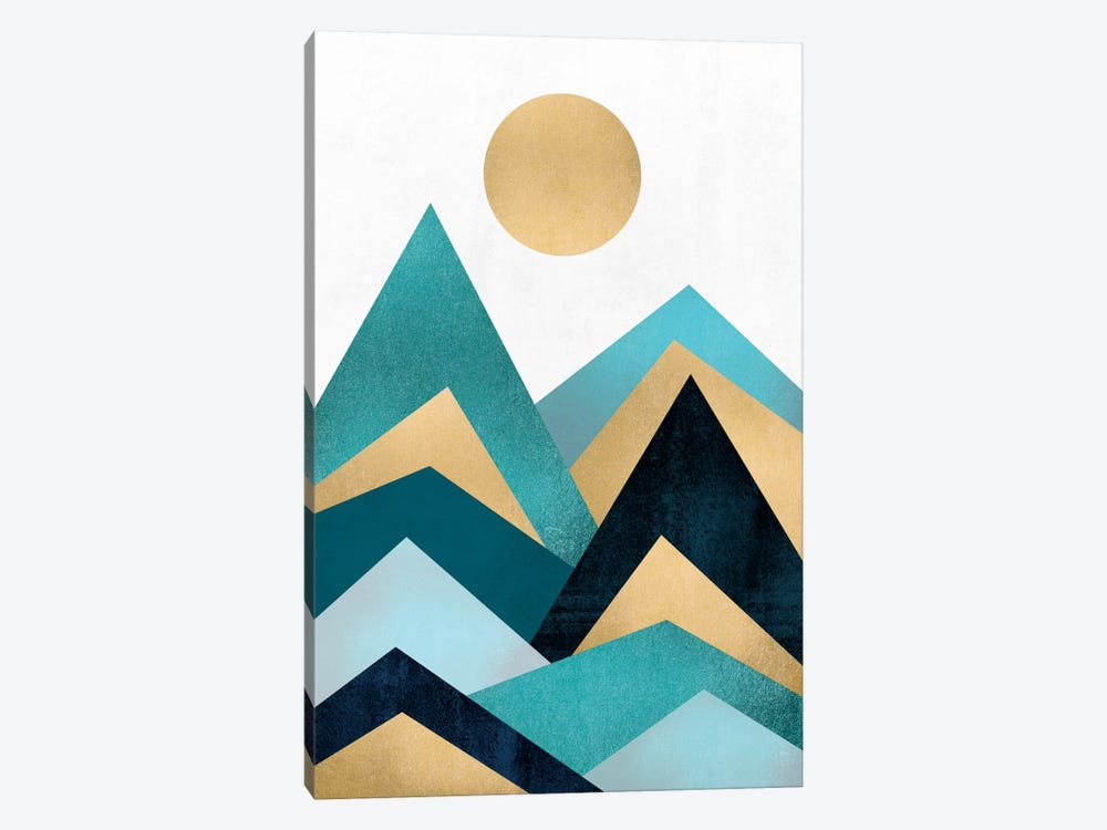 Waves by Elisabeth Fredriksson 1-piece Canvas Art