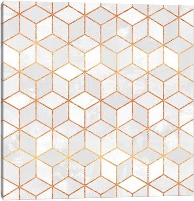 White Cubes Canvas Print #ELF117