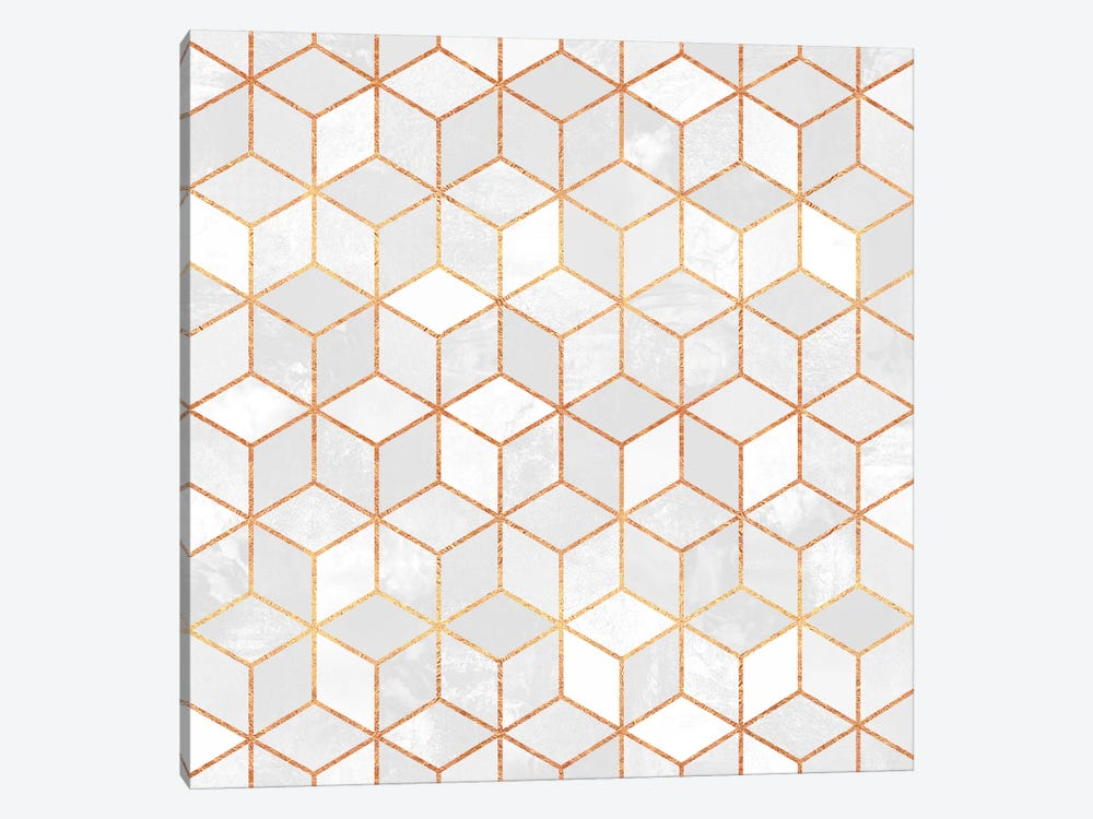 White Cubes by Elisabeth Fredriksson 1-piece Canvas Wall Art
