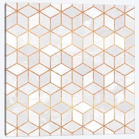 White Cubes Canvas Print #ELF117} by Elisabeth Fredriksson Canvas Art